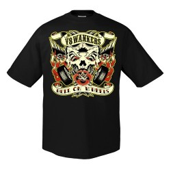 T-Shirt V8 Wankers hell on