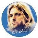Button Kurt Cobain face
