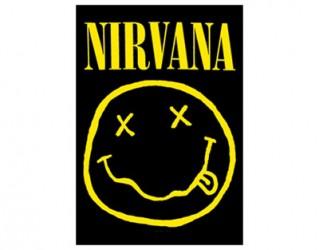 Textilposter Nirvana smiley