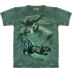 Kinder T-Shirt T-Rex collage