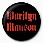 Button Marilyn Manson logo