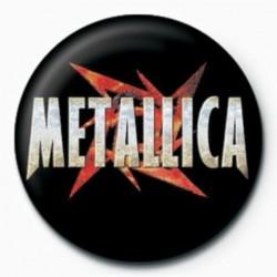 Button Metallica red star