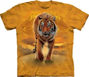 Kinder T-Shirt Laufender Tiger