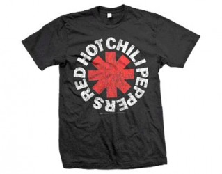 T-Shirt Red Hot Chilli Peppers red asterisk