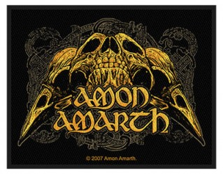 Aufnäher Amon Amarth Raven skull