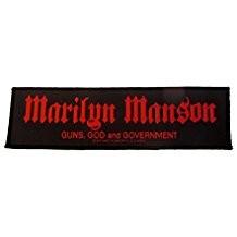 Aufnäher Marilyn Manson Guns