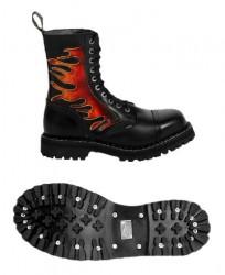 Steel Boots flammen 10-Loch
