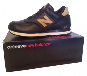 New Balance black/gold