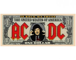 Aufnäher AC/DC bank note