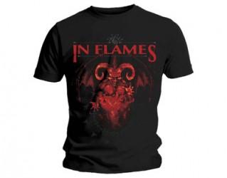 T-Shirt In Flames baphomet