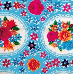 Kitsch Kitchen Tischtuch mit Blumen-Bucket Oilcloth