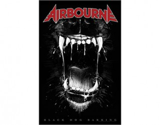 Textilposter Airbourne black dog