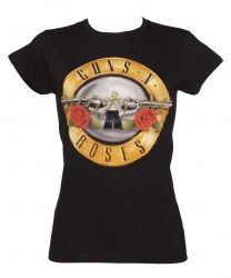 Girlie Shirt Guns N Roses guns logo