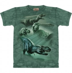 Kinder T-Shirt T-Rex collage