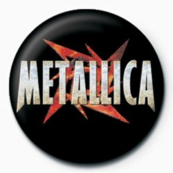 Button Metallica red star