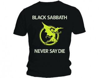 T-Shirt Black Sabbath never say die
