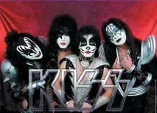Textil Poster Kiss Band