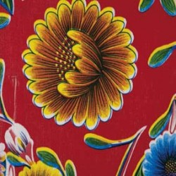 Kitsch Kitchen Tischtuch mit Blumenmeer oilcloth