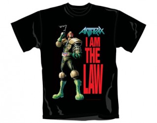 T-Shhirt Anthrax i am the law