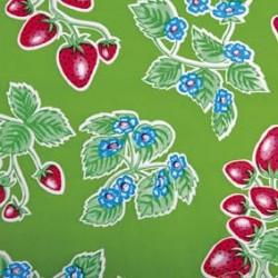 Kitsch Kitchen Tischtuch mit Erdbeeren oilcloth